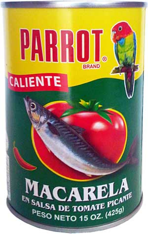 can of Mackerel in Hot Tomato Sauce 15 oz. (New York)