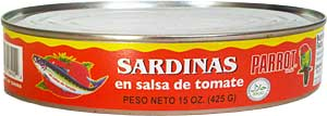can of Sardines in Tomato Sauce 15 oz. (New York)