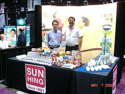 picture of Sun Hing Foods booth at FMI Fancy Foods Trade Show