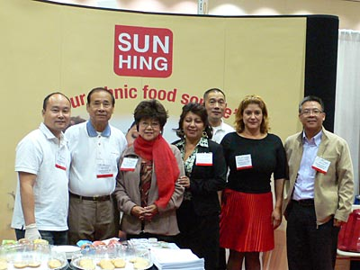 picture of Sun Hing Foods booth at Expo Comida Latina